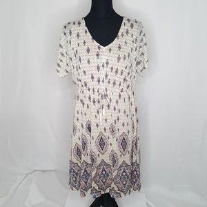 Style & Co. Printed Dolman-Sleeve Dress